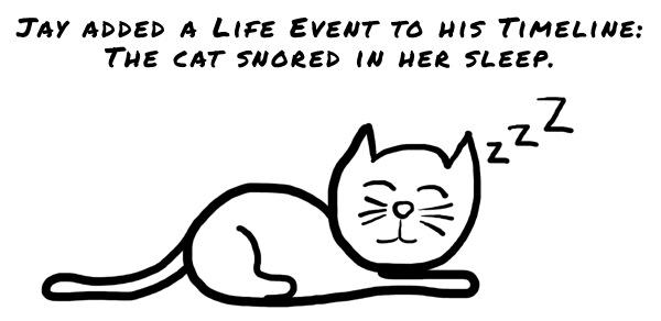 Facebook Life Events - Cat - The Anti-Social Media